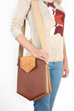 Messenger bag Inki brown shoulder bag by GoodMoodMoon on Etsy