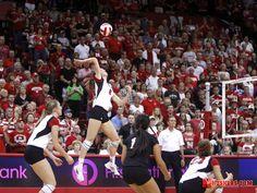 If it's #5 it's Amber. #6 is Kadie. Husker Volleyball vs Dayton 9-13-13