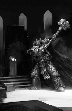 Primarch Vulkan by Tomas Duchek Warhammer 40k Salamanders, Salamanders Space Marines, Warhammer 40k Art, Warhammer 40k Miniatures, Warhammer Fantasy, Fantasy Heroes, Fantasy Characters, The Horus Heresy, Dark Eldar
