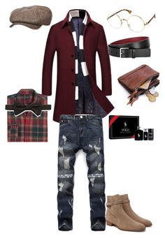 """""""Spiffy Flee"""" by mrmcflee on Polyvore featuring Yves Saint Laurent, Stetson, Paul Smith, Ralph Lauren, J.Crew, Neiman Marcus, men's fashion and menswear"""