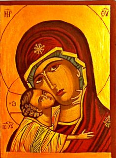 Check out this item in my Etsy shop https://www.etsy.com/listing/489901657/mother-of-god-greek-orthodox-hagiography