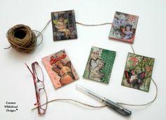 ATC Swap with Mark Montano - Fairy ATC's created by Carmen Whitehead Designs Mixed Media Tutorials, Atc Cards, Artist Trading Cards, Fairy Art, Art Tips, Mixed Media Art, Crafts To Make, Stencils, Diy Projects