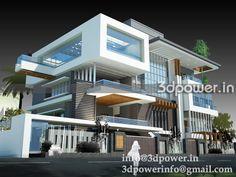 For Architects: واجهات فلل مودرن - modern villa