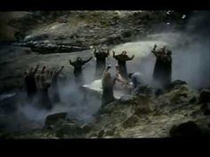 An Icelandic movie filmed in 1981, detailing a blood feud that took place in Viking times, taking place between 940 - 980 AD.  It is based upon one of the Icelanders' Sagas called the Gísla saga most likely written in the 13th century. https://www.youtube.com/watch?v=76AlJZuywXo