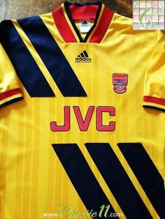 Relive Arsenal s 1993 1994 season with this original Adidas away football  shirt. Arsenal Fc 56707700c6965
