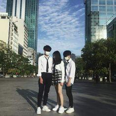 Korean Best Friends, Boy And Girl Best Friends, Three Best Friends, Best Friend Goals, Ulzzang Couple, Ulzzang Girl, Boy And Girl Friendship, Korean Picture, Friendship Pictures