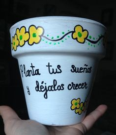 Potted Plants, Cactus Plants, Diy And Crafts, Arts And Crafts, Unisex Baby Shower, Painted Plant Pots, Creative Workshop, Lettering Tutorial, Pottery Painting