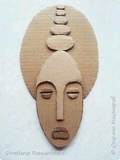 Gesichter | cardboard sculpture