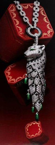 Luxurious CARTIER Panther Pendant