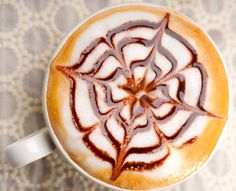 Not just a new age art form... it's a way of preparing coffee where steamed milk is poured into a shot of espresso and a design forms on the surface of the latte! #LatteArt