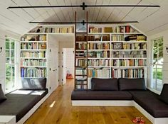 Renovation longere bibliotheque comble