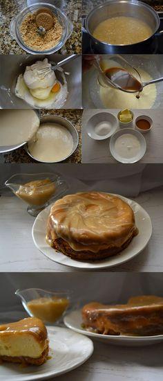 Pastel de queso y toffee  / http://saladosypostres.blogspot.com.es/