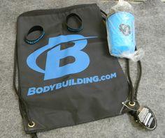 (4) Item Bodybuilding.com Lot - Drawstring Backpack - Shaker Bottle- Wristband  #Bodybuildingcom