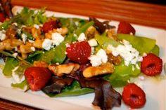 Невыразимая легкость кулинарного бытия...: Салат с малиной и сыром фета
