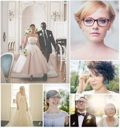 Brides Looking Gorgeous in #Glasses - Nowadays #Glasses are one of the famous fashion accessory, so why not Brides accessorize their self's from trendy & fashionable glasses in their special day.