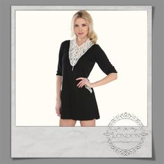 #Lace #Embroidered #Neckline #Dress #Tunic