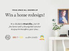 $1500 West Elm Gift Card + 10 Home Design Consultation (ARV: $2,800)