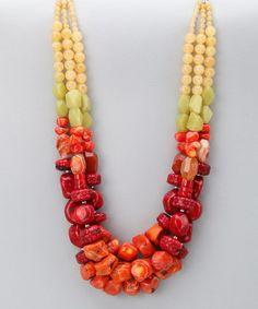 Jewelry Idea for my large burnt orange beads