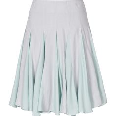 Reiss 1971 Gabby Pleated Flared Skirt (1.679.075 IDR) ❤ liked on Polyvore featuring skirts, bottoms, ice blue, layered skirt, blue skater skirt, pleated skater skirt, blue circle skirt and flared skirt