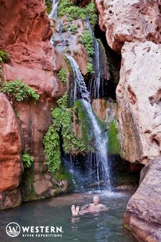 Exploring the springs and falls hidden within the Grand Canyon- many accessable only via the river!