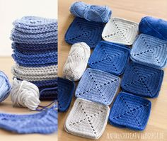 Baby Knitting Patterns Blanket We already have April and I show you my annual project. Baby Knitting Patterns, Crochet Blanket Patterns, Baby Blanket Crochet, Crochet Quilt, Crochet Squares, How To Start Knitting, Learn To Crochet, Knitting Projects, Crochet Projects