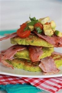 Weigh-Less Online - Corn & Coriander Fritters with Bacon