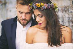 Wedding day in boho style. Made by Kwiaty w kredensie-pracowania florystyczna.