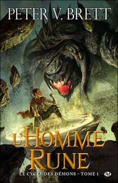 Original cover for L'Homme Rune, French translation of The Warded Man