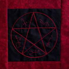 Devil's Trap Quilt Block - There's also an Impala and Angel Wings paper pieced patterns.