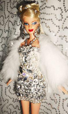 Diamond barbie doll ooak