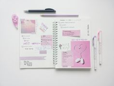"""yeol-kong: """" Bullet journal spread from a couple of weeks ago! """""""