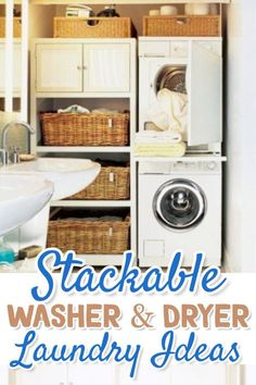 Stackable Washer and Dryer for Small Laundry Rooms, Laundry Closets, apartment laundry rooms and other tiny Laundry Areas