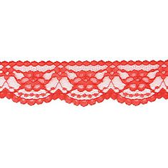 Midnight Garden 5-yard Red Lace Ribbon - Overstock™ Shopping - Big Discounts on Jewelry Findings