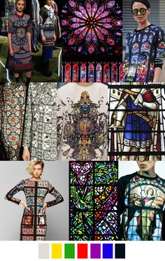 AW 2017-18 pattern trend: STAINED GLASS