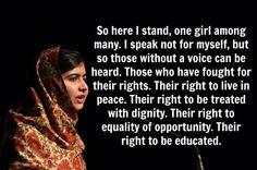 Malala, our hero!