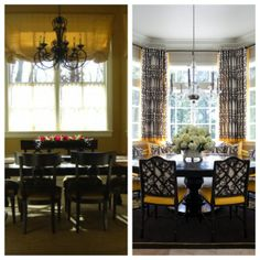 Before and after breakfast nook by Tobi Fairley