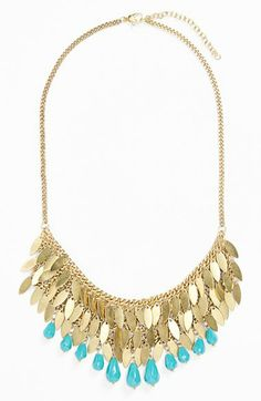 Passion For Fashion Turquoise Dreams| Serafini Amelia| Stephan & Co. Statement Necklace available at #Nordstrom