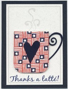 Thanks a latte!  This is a cute handmade magnet perfect for a quick thank-you gift.