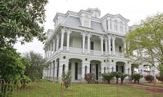 The Dansereau House, Thibodaux, LA Mansard roof ala Second Empire and also Greek revival columns