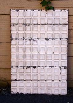 Charlotte Embossed Tin Panel, back drop Vintage Ambiance