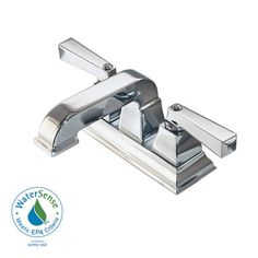 American Standard Town Square Centerset Bathroom Faucet with Speed Conn Polished Chrome Faucet Lavatory Double Handle Square Bathroom Sink, Bathroom Sink Faucets, Bathrooms, Master Bathroom, Office Bathroom, Ornamental Mouldings, Thing 1, Lavatory Faucet, American Standard