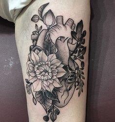 Intricate black and grey heart tattoo by Ash Timlin, Passage Tattoo, Toronto, Canada. Instagram: @ashtimlin.