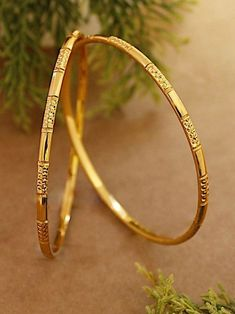 Gold Chain Design, Gold Bangles Design, Gold Earrings Designs, Gold Jewellery Design, Fashion Jewellery, Handmade Jewellery, Plain Gold Bangles, Indian Gold Bangles, Gold Bangles For Women
