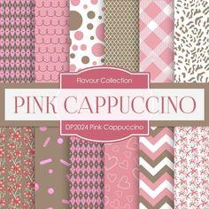 Pink Cappuccino Digital Paper DP2024