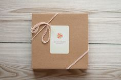 Julie Blum Photography packaging with kraft box and twine