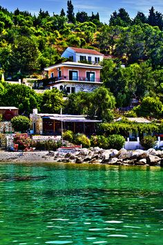 Beautiful house in Paxos island, Ionian sea, Greece Paxos Greece, Mykonos Greece, Crete Greece, Athens Greece, Santorini, Oh The Places You'll Go, Places To Travel, Travel Destinations, Paxos Island