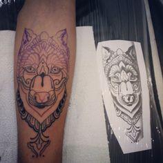 #Meio. #Tatuagem #Lobo #Tattoo #Wolf #Ink #Salvador #Bahia #Sank25Tattoo #MinhaPrimeiraTatuagem