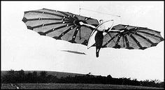 'The Hawk' hang glider built and flown by Percy Pilcher in 1897. On June 20, 1897, Percy let Miss Dorothy Pilcher, his cousin be given a towed flight; the image appears to be a woman flying.   File:Hawk hangglider Pilcher.jpg