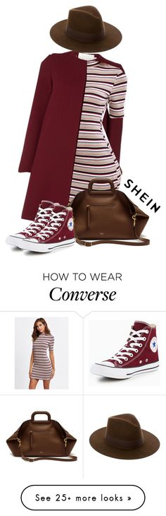 """Shein style"" by zeljomoja on Polyvore featuring Mulberry, Converse and Yves Saint Laurent"