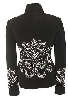 Black Jacket with Pearl Detail :: Horse Show Riding Jackets :: Show Me Again Showmanship Outfit